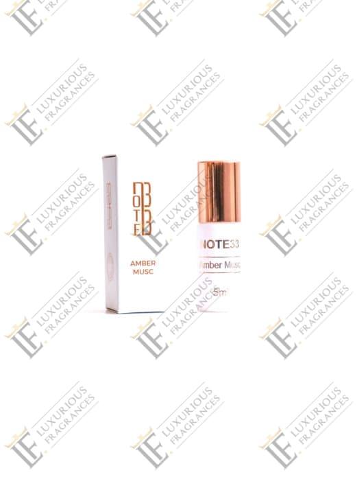 Extrait de Parfum Amber Musc - Note 33 - Luxurious Fragrances